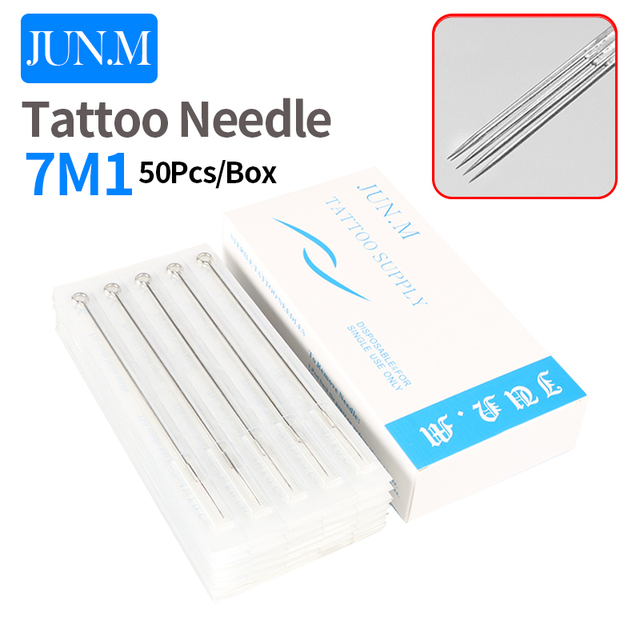 50pcs/box 7M1 Sterilized tattoo needles magnum Tattoo Supplies free ...