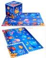 6pcs/set Baby Crawling Play Mat, Interlocking Foam Pad Blue Ocean Eva Foam Puzzle Carpet Gym Soft Floor Split Joint Carpet B238