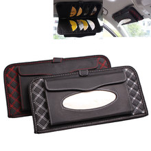 ymjywl CD Case Car Sun Visor multifunctional Tissue CD Box with Holder For High Quality Storage CD Bag biety am 13 multifunctional alligator pu leather car sunvisor sunshade tissue box case cd holder