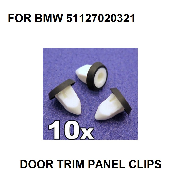 20x BMW Bodywork /& Trim Screw Grommets Integrated rubber sealing washer