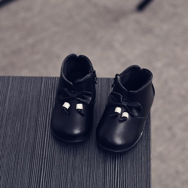 YNB Nueva Moda 0-2 Y Baby Girl Zapatos de Invierno Niño Botas De Felpa Niños Princesa de La Muchacha con el Arco, los Niños de alta Calidad