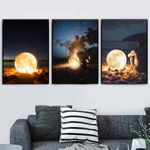 Surrealism Moon Nordic Posters And Prints Creativity Wall Art Canvas Painting Pictures For Living Room Bedroom Home Decor