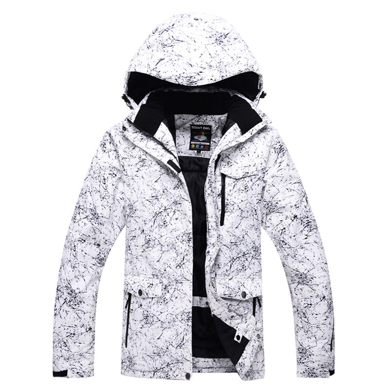 NEW white snow jacket Couple woman & man ski suit sets single skiing set winter windproof waterproof snowboarding warm coat free shipping the new 2017 gsou snow ski suit man windproof and waterproof breathable double plate warm winter ski clothes
