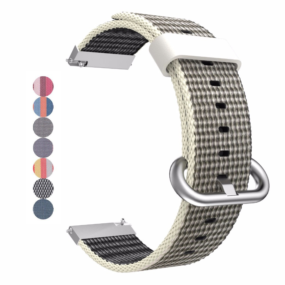 Watch Band For Samsung Gear S3 Frontier / S2 Classic Quick Release 22mm 20mm Fabric Nylon Bracelet Loop Strap Quick Release Pin