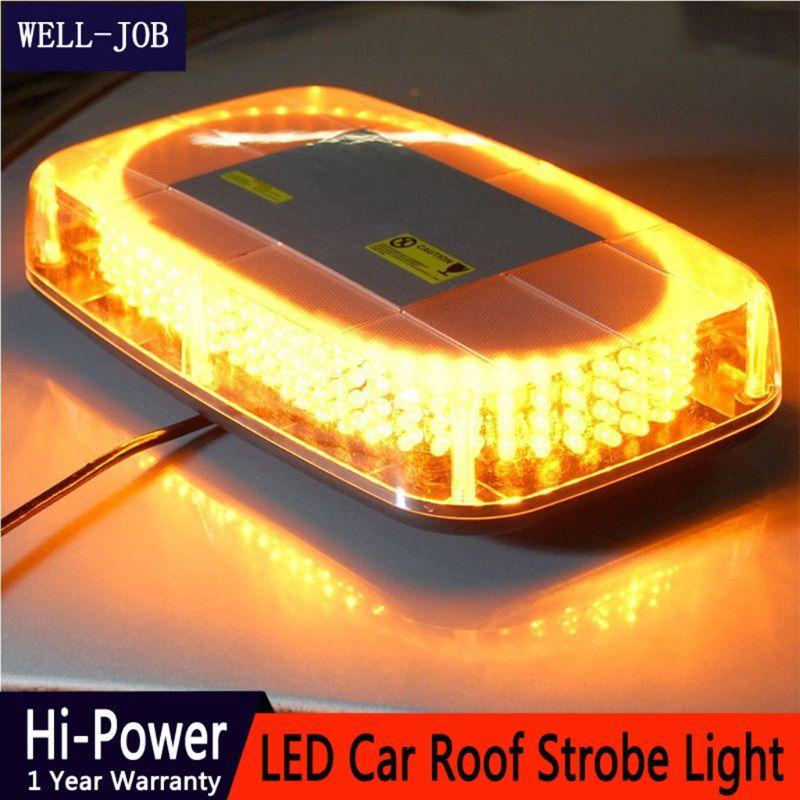 Nouveau 240 LED ambre jaune voiture toit clignotant stroboscope lumière de secours Police balises avertissement Mini lampe d'éclairage 2019