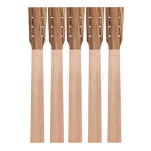 Acoustic Guitar Neck for Guitar Parts Replacement Luthier Repair Diy Unfinished Zebrawood Head Veneer Pack of 5