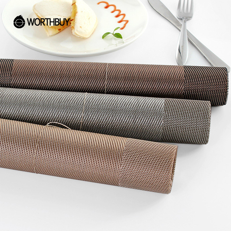 Plastic PVC Dining Table Mat Heat Insulation Non Slip Placemats Tableware
