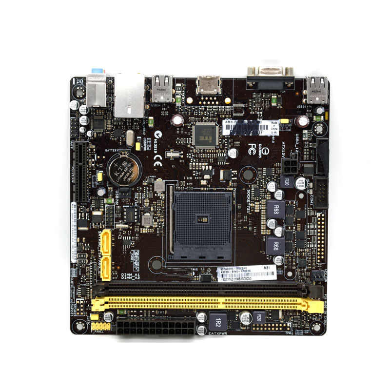 Para ASUS AM1I-B/K30BD/d_mb mini 17*17cm AM1 ITX motherboard disponible con x4 5150 placa madre Original usada
