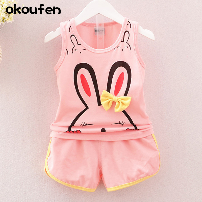 2018 new baby girl clothes suit best quality girl cotton summer clothe suit brand children kids cartoon clothing sets