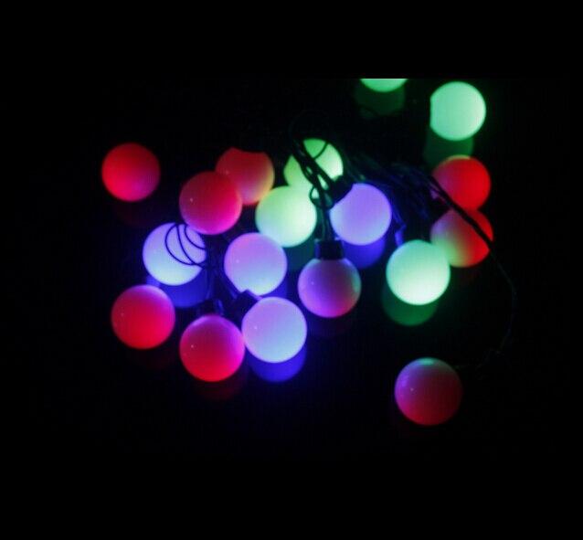 ddabf991dc Fada 10 m LED 4 cm grande cadeia de bola guirlanda de natal luzes para venda  feriado do ano novo partido de casamento luminaria decoração lâmpadas em Luz  ...