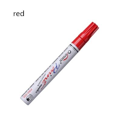 Водостойкая автомобильная ручка для ремонта царапин, автошины, протектора, краски, маркеры, граффити, фломастер на масляной основе, уход за краской, средство для удаления царапин, автостайлинг - Цвет: red