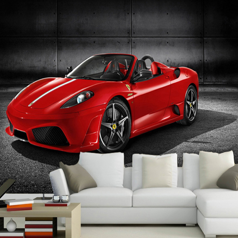 custom 3d photo wallpaper red car picture wall mural kids bedroom sofa wall decoration 3d non