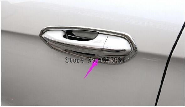 ABS Chrome door handle bowl cup frame cover trim for  ford Edge 2015 2016 2017 trim cover trim handle trim door -