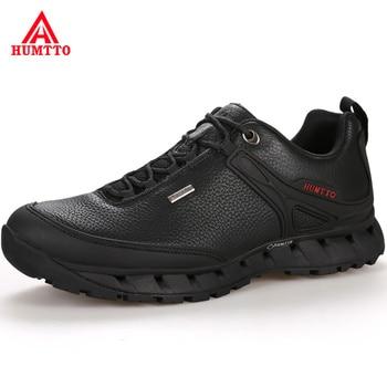 Venta caliente 2018 Otoño Invierno cuero genuino hombres zapatos transpirables encaje-up lujo Casual hombres zapato marca hombre diseñador zapatillas de deporte