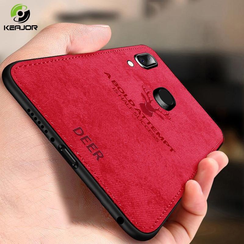 Keajor étui pour Samsung Galaxy A40 étui classique en tissu pare-chocs en Silicone souple cadre arrière pour Samsung Galaxy A40 A 40 étui