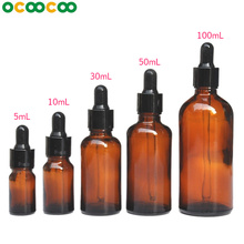 Reagent Eye Dropper Drop Amber Glass Aromatherapy Liquid Pipette Bottle Refillable Bottles