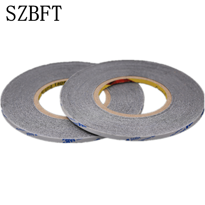 SZBFT 1mm *50m Black double faced tape ultra-thin non-woven screen double faced adhesive tape ultrafine free shipping szbft 1mm black brand new 3m sticker double side adhesive tape fix for cellphone touch screen lcd free shipping