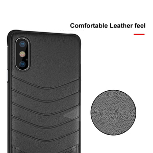 Image 2 - OTAO Leather Shockproof Case For iPhone 8 7 Plus 6 6s Bumper Back Cover For iPhone X XS MAX XR Solid Color Cases Soft Edge Coque