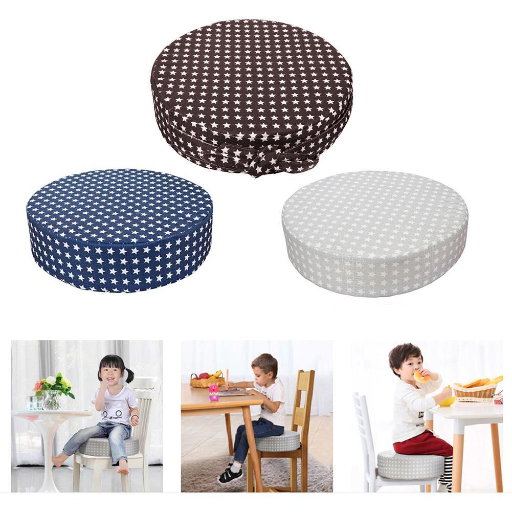 2019 New Hot Baby Heighten Cushion Adjustable Detachable High-density Sponge Linen Baby Child Dining Chair Heightening Cushion