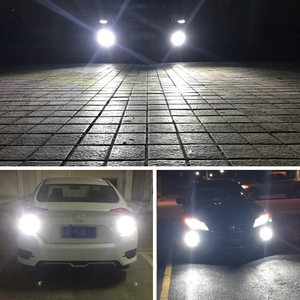 Image 5 - 2 adet araba sis farları H7 lamba süper parlak LED 12 3030SMD 12V 24V 6000K beyaz sürüş koşu Led h7 ampuller oto otomotiv