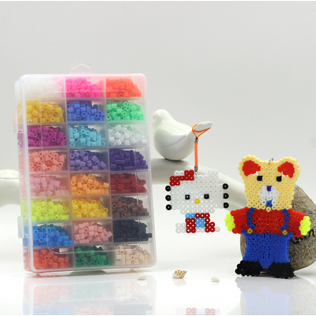 24 Color Perler Beads 5500pcs box set of 5mm Hama Beads for Children Educational jigsaw puzzle diy Toys Fuse Beads