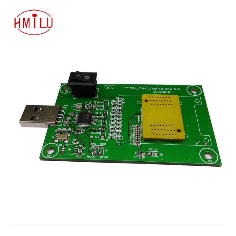 KZT PCB board with USB interface for eMMC 153/169 to dip 48 emcp 162/186 to dip 48eMCP 221 to dip 48clamshell socket tlp1201a tlp1201 dip 3