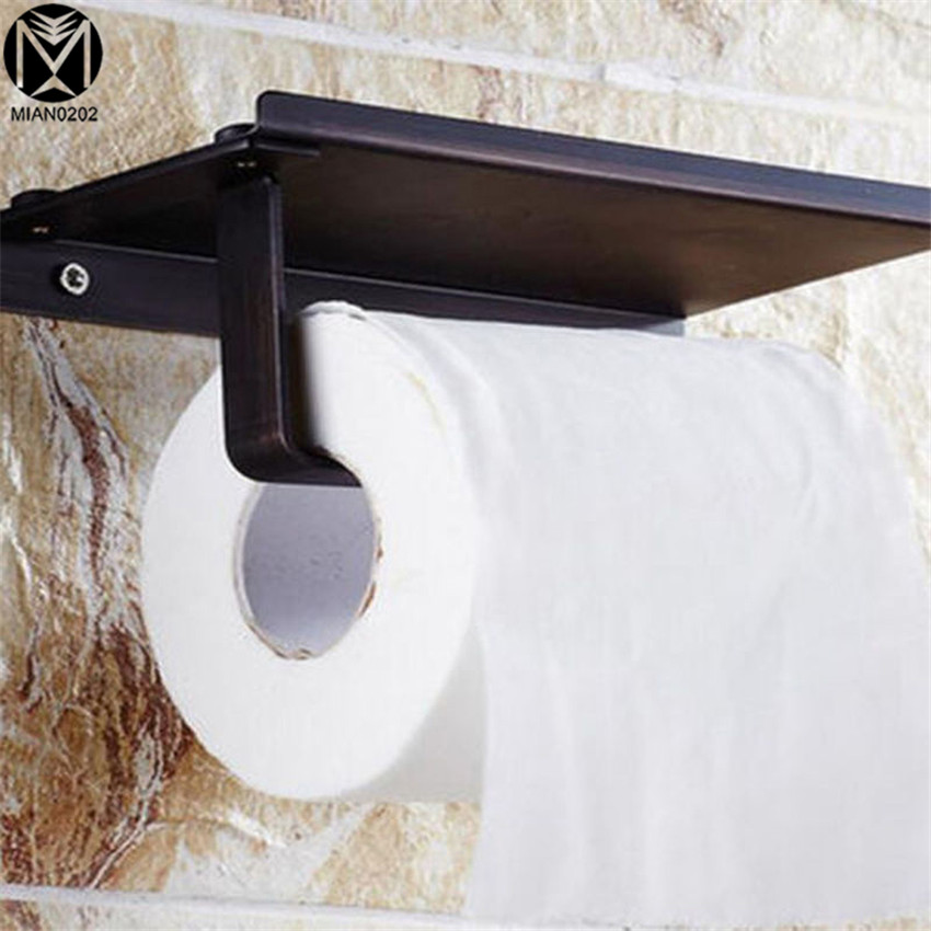 Paper Holder Classic Simple style Stainless Steel Matte Black Finish Wall Mounted Toilet Paper Holder Bathroom Accessories щетка для волос 3d detangling ze06400