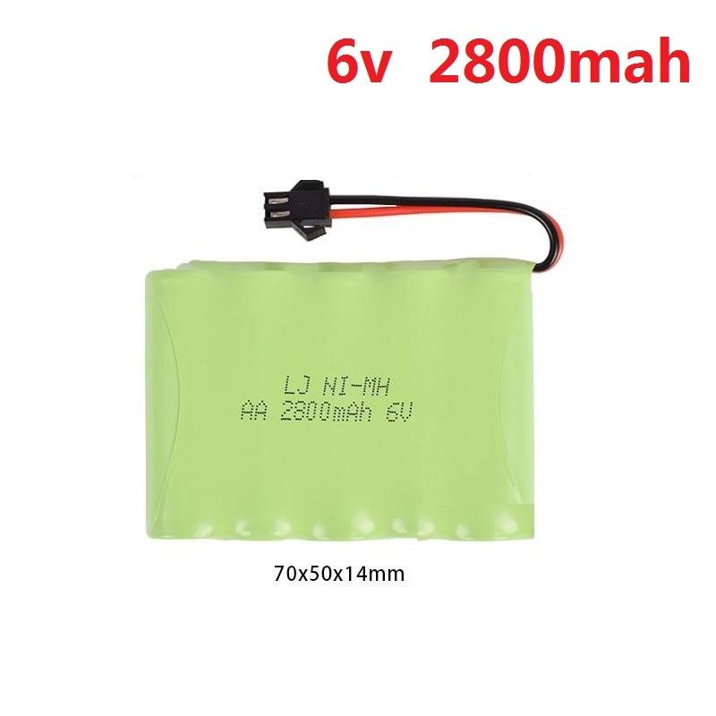 6 V 700 mAh/1800 mAh/2800 mAh M-estilo de alta capacidad AA Ni-MH batería recargable para juguetes eléctricos/RC coche/RC/camiones/Barco de RC