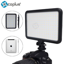 Mcoplus TTV-204 1300LM Bi-color 3200-5600K Ultra Thin 204 LED Panel Video Photo Light Children for Canon Nikon Sony DLSR Camera