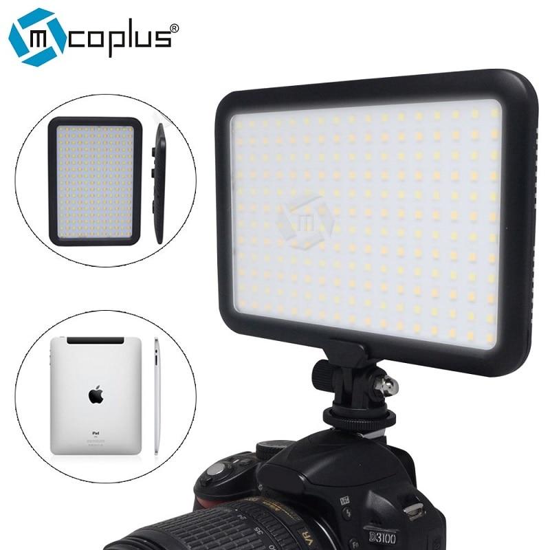 Mcoplus TTV-204 1300LM bicolore 3200-5600 K Ultra mince 204 LED panneau vidéo Photo lumière enfants pour Canon Nikon Sony DLSR appareil Photo