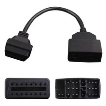 22 Pin To 16 Pin OBD1 To OBD2 Car Fault Adapter Diagnostic Tool Cable For Toyota