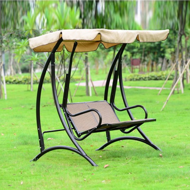 Outdoor 2Person Canopy Swing Chair Patio Hammock Seat Yard Porch Furniture Steel : canopy swing - afamca.org