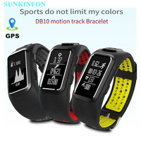 GPS Motion Track Record Smart Wristband Sports Band Dynamic Heart Rate Pedometer Waterproof Bracelet For IPhone