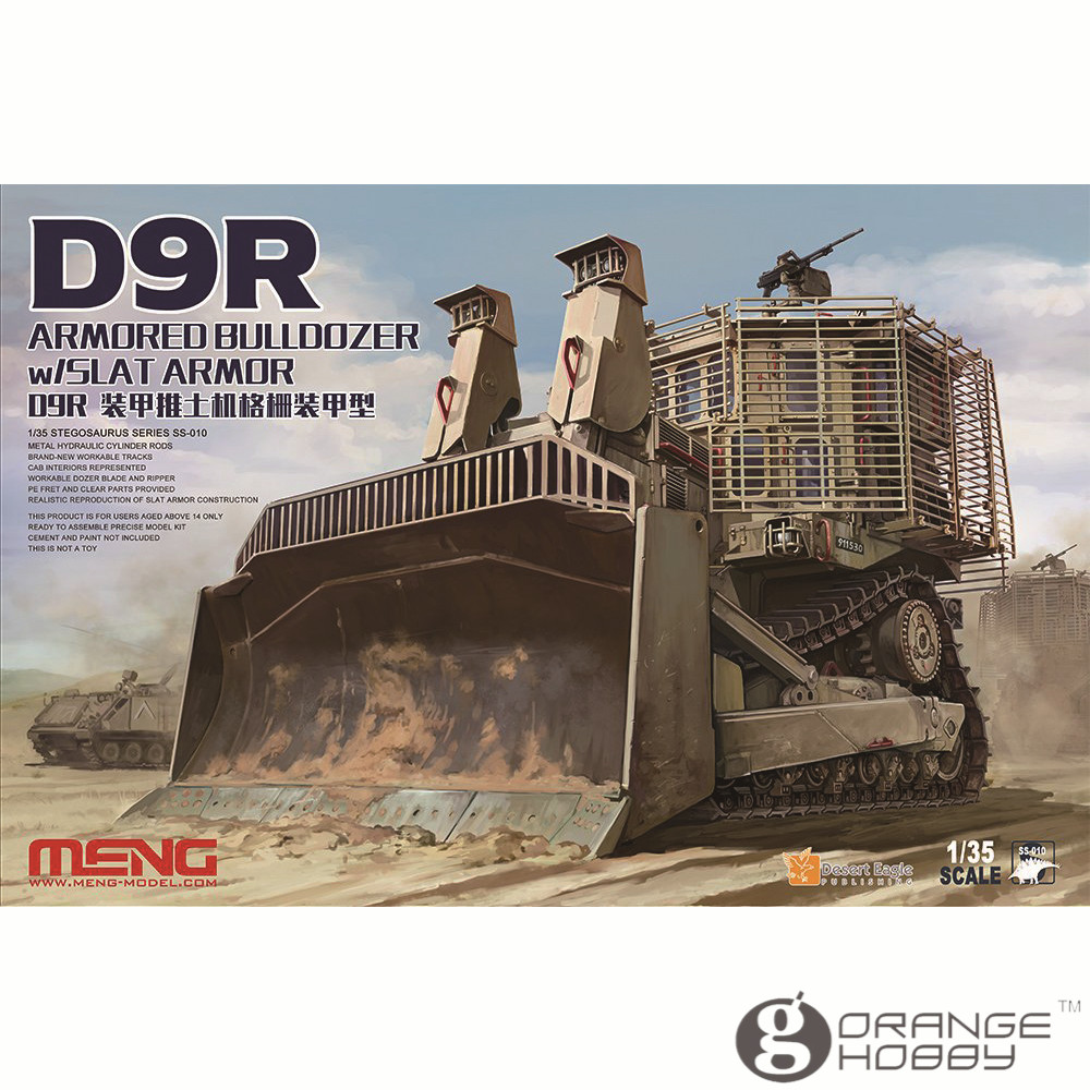 OHS Meng SS010 1/35 D9R Armored Bulldozer w/Slat Armor Assembly Scale AFV Model Building Kits ohs meng ts028 1 35 russian t 72b3 main battle tank assembly scale afv model building kits