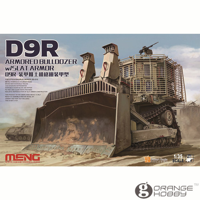 4a65d16f5f33 OHS Meng SS010 1 35 D9R Armored Bulldozer w Slat Armor Assembly Scale AFV  Model Building Kits oh