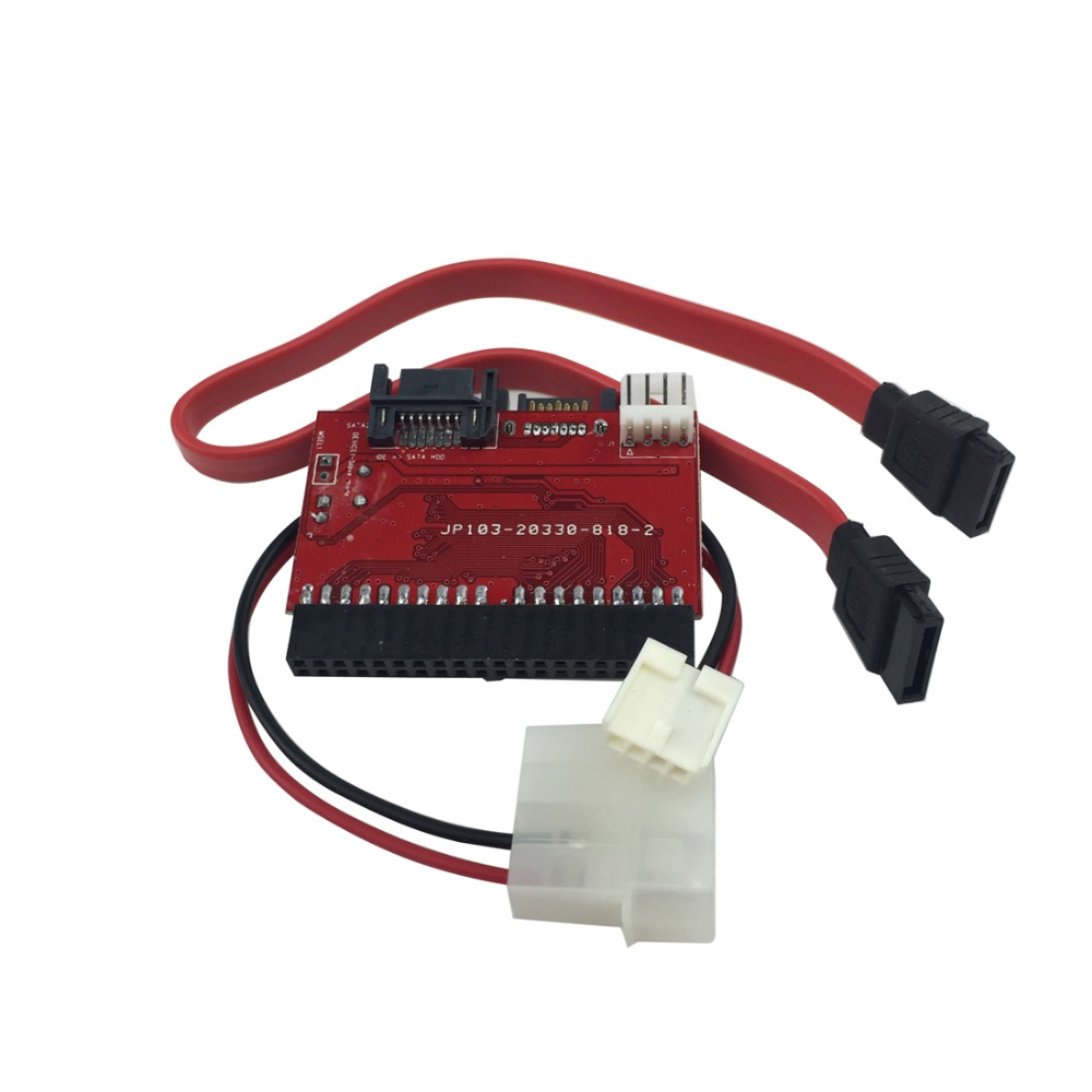 2 In 1 SATA To IDE Converter IDE To SATA Adapter 40 Pin IDE Port For ATA 133 100 HDD CD DVD Adaptor