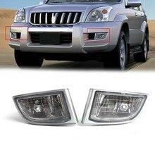 For Toyota Land Cruiser Prado(J120) 2002-2009 Auto Side Replacement Clear Lens Fog Light Lamp Housing