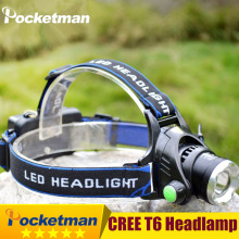 High Power CREE XML-T6 Led Headlamp 2000 Lumens Head lamp LED headlamp Headlight Waterproof Zoomable lampe frontale Headlight