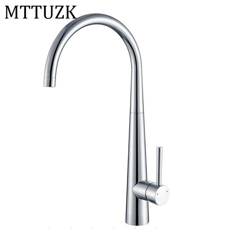MTTUZK livraison gratuite nouveau Design cuisine chaud et froid mélangeur robinets cuisine robinet navire mélangeur 360 degrés Rotation laiton robinet