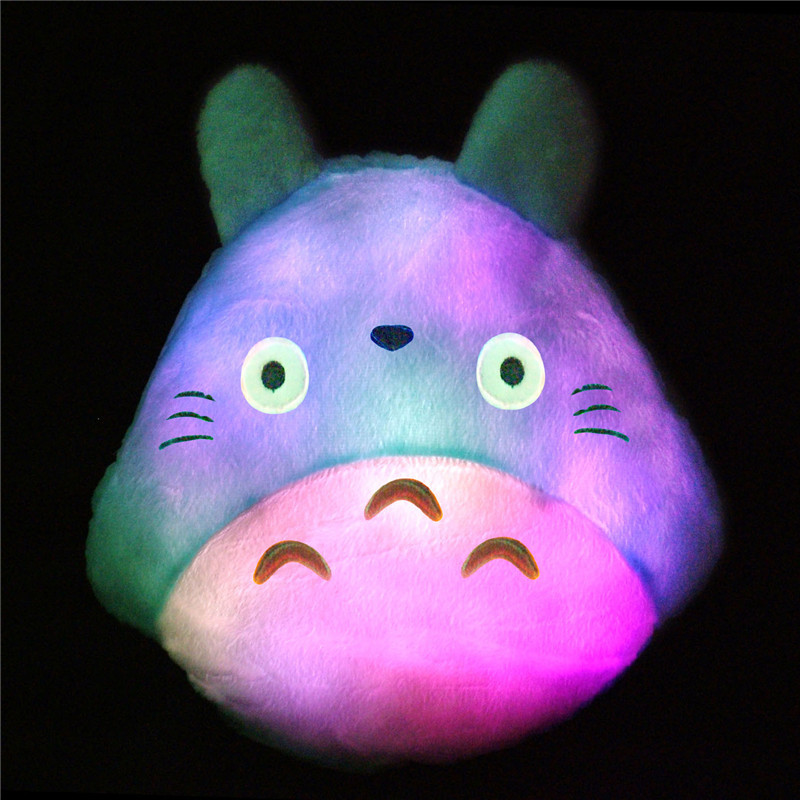 Free Shipping New Decorative Totoro LED Cushion Cute Colorful Light Luminous Pillows Lovely Chiristmas LED Totoro Pillow Toy ...