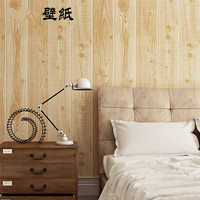 New vintage ostalgic 3D simulation wood plank wood grain wall papers Chinese style restaurant teahouse box TV back wall decor