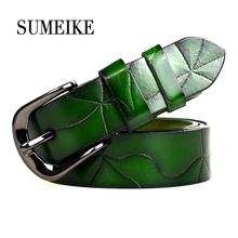 Female Strap High Quality Designer Belt Ladies 100% Genuine Leather