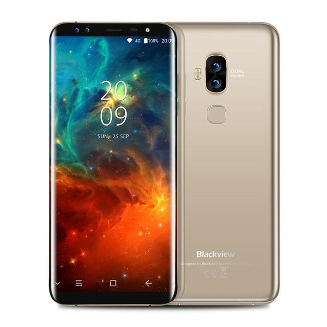 """Китай Blackview S8 четыре камеры смартфона 4 г Оперативная память 64 г Встроенная память 5.7 """"mt6750t Octa core 1440*720 4 г LTE отпечатков пальцев OTG Мобильный телефон"""