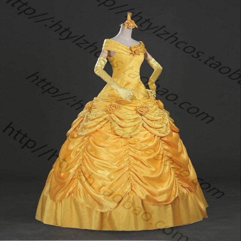 Vestido De Princesa Bella Y La Bestia Bella Disfraz De