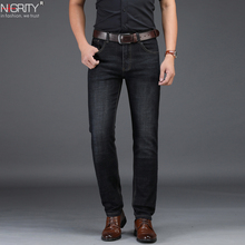 NIGRITY 2019 New Hot Sale Mens Business Classic Leisure Jeans Basic styles Straight Pant Male Trousers Quality Plus Size 29 42