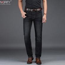 NIGRITY 2019 חדש מכירה לוהטת גברים של עסקים קלאסי פנאי ג ינס בסיסי סגנונות ישר מכנסיים זכר מכנסיים באיכות בתוספת גודל 29 42