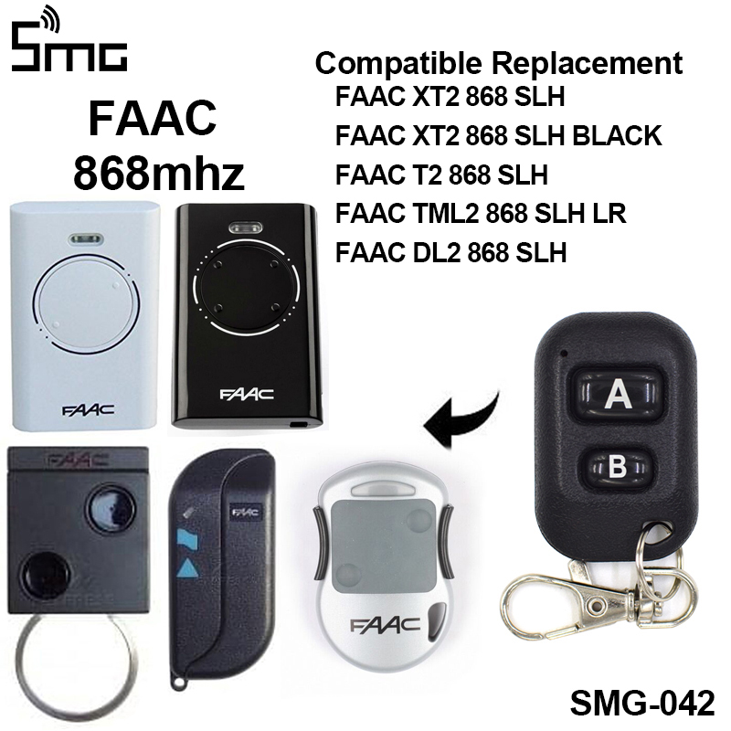 Pilot FAAC T2 TX2 868 SLH DL2 868 SLH Garage Door Remote Control FAAC 868 Slh Remote Garage Rolling Code For Gate Control