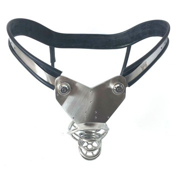 Prevent Masturbation Stainless Steel Chastity Lock Pants Penis Bondage Cbt Cock Cage Male Chastity Belt Device Sex Toys For Men