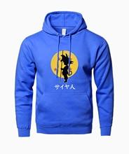 Dragon Ball Anime Fashion Print 2017 Autumn Winter Fleece Sweatshirts For Men Hoody Z Goku Brand Tracksuit Men's Sportswear Hot