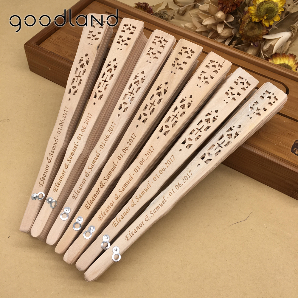Free Shipping 10pcs/lot Personalized Vintage Chinese Aromatic Wood Pocket Folding Hand Fan With Organza Gift Bag Wedding Fan